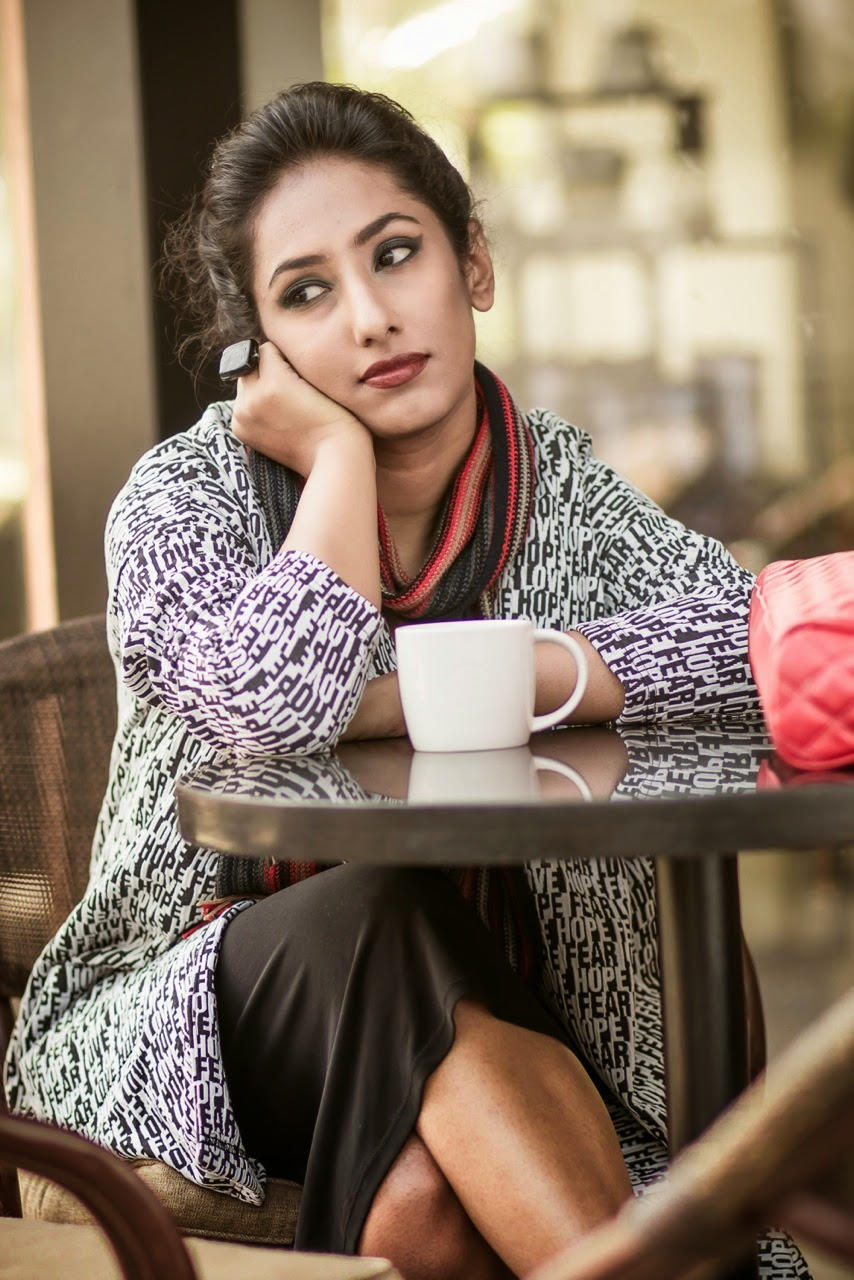 SMELL THE COFFEE SMELL THE COFFEE  STARBUCKS EDITORIAL FASHION PHOTOGRAPHY LOOKBOOK  CONCEPTUAL BEAUTY fashion style hyderabad fashion blogger i dress for the applause naznin suhaer  WINTER VERO MODA SCARF WINGED EYES