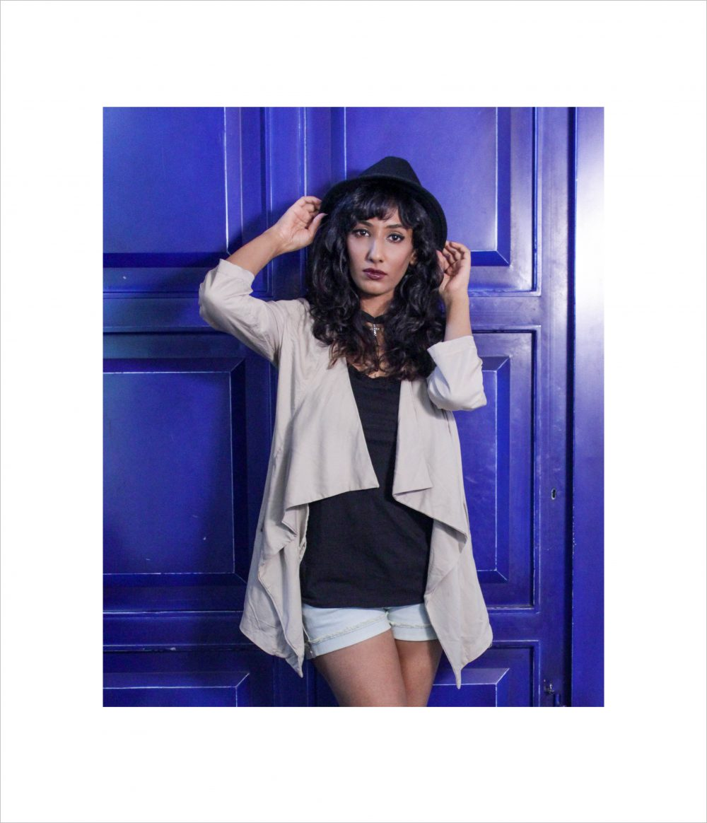 Fashion blogger Hyderabad Magazine indian dark photography feature Naznin Suhaer I Dress for the Applause hat country style khaki jacket boots goth vintage lookbook messy hair wine lips rawdust featured New Look