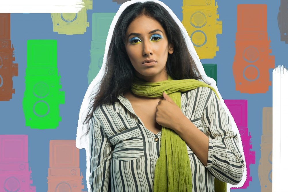 hyderabad fashion bloggers ; Quirk box Quirky colors Editorial colorful fashion photography artwork candies candy style beauty blogger hyderabad indian Naznin Suhaer I Dress for the Applause model conceptual concept vero moda koovs max fashions yellow green fun artist prints graphic artsy pop art stripes