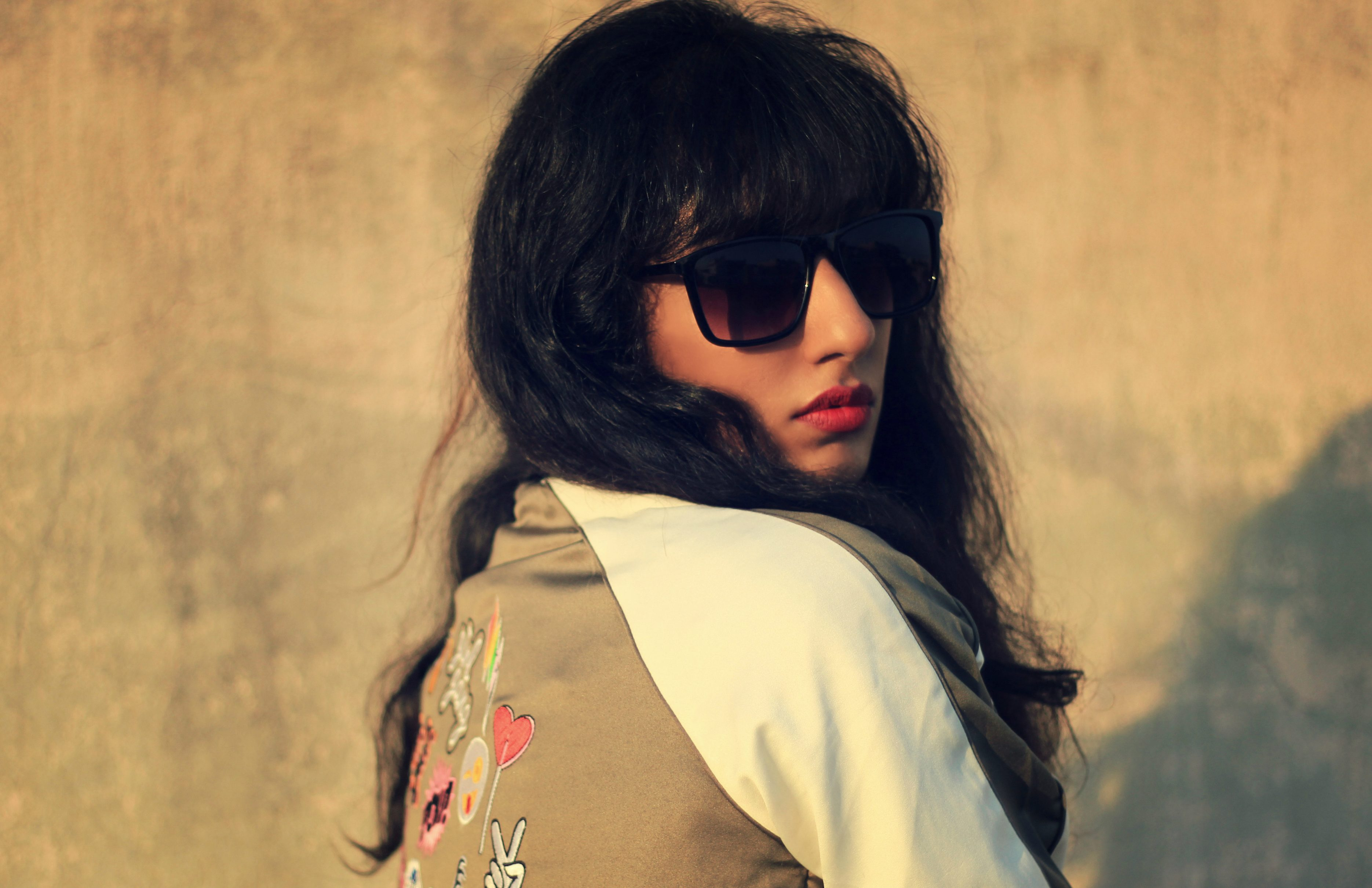 Lookbook ; Conceptual ; fashion photography ; Max Fashion ; Bomber Jacket ; vintage ; pop of colors ; quirky; red lips ; messy hair ; strong ; winter fashion ; winter outfit ; street style ; street fashion ; Dark ; Naznin ; hyderabad fashion bloggers ; hyderabad bloggers ; hyderabad fashion blogger ; I Dress for the Applause ;