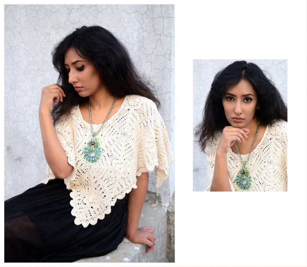 Lookbook ; Conceptual ; fashion photography ; Shop Rhea ; statement necklace ; crystal necklace ; Crochet ; Mesh skirt ; monochrome ; vintage ; grunge ; messy hair ; strong ; winter fashion ; winter outfit ; street style ; street fashion ; Dark ; Naznin ; hyderabad fashion bloggers ; hyderabad bloggers ; hyderabad fashion blogger ; I Dress for the Applause ;