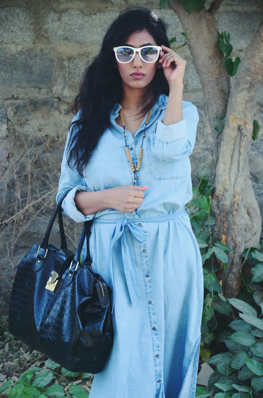 Lookbook ; Denim Maxi ; Dress ; Blue ; Monochrome ; Blue ; Outfit ; Love ; Bohemian ; Tan ; Gladiators ; Necklace ; fashion photography ; dusk ; editorial ; nude makeup ; strong ; Dark ; summer fashion ; summer outfit ; spring ; summer 17 boho look ; Naznin ; Naznin Suhaer ; dusky; model ; indian blogger ; hyderabad fashion bloggers ; hyderabad bloggers ; hyderabad fashion blogger ; I Dress for the Applause ;