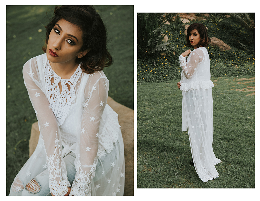 Lookbook ; Bohemian ; Dress ; Maxi ; Sheer Kimono ; Outfit ; White ; Lace; fashion photography ; resort wear ; Romwe ; dusk ; editorial ; strong ; Dark ; summer fashion ; summer outfit ; spring ; summer 17 boho look ; Mirrors Salon Hyderabad ; Monsoon ; Editorial ; Naznin ; Naznin Suhaer ; dusky; model ; indian blogger ; hyderabad fashion bloggers ; hyderabad bloggers ; hyderabad fashion blogger ; I Dress for the Applause ;