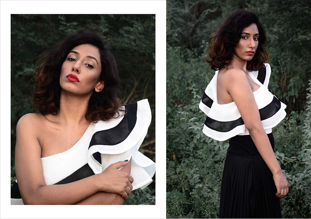 white Bodysuit ; Ruflles ; Lookbook ; Outfit ; fashion photography ; Red Lips ; Shein ; ootd ; fall look ; white ; street style; red ; sunset ; strong ; Dark ; summer fashion ; summer outfit ; spring ; fall 17 ; Hyderabad ; Editorial ; Naznin ; Naznin Suhaer ; dusky; model ; indian blogger ; hyderabad fashion bloggers ; hyderabad bloggers ; hyderabad fashion blogger ; I Dress for the Applause ;