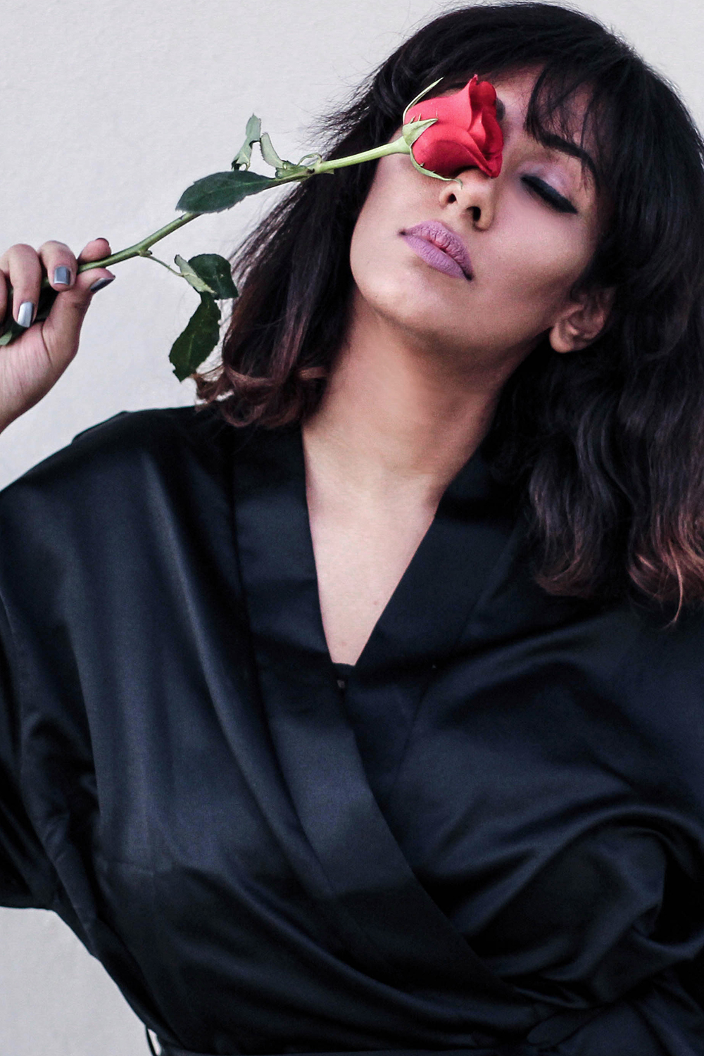 Silk Wrap ; Robe ; Black ; Nightwear ; Pretty Secrets ; Lace ; Lookbook ; Outfit ; fashion photography ; Morning Look ; ootd ; Parisian ; red ; rose ; French ; Winged Liner ; ; Editorial ; Naznin ; Naznin Suhaer ; dusky; model ; indian blogger ; hyderabad fashion bloggers ; hyderabad bloggers ; hyderabad fashion blogger ; I Dress for the Applause ;