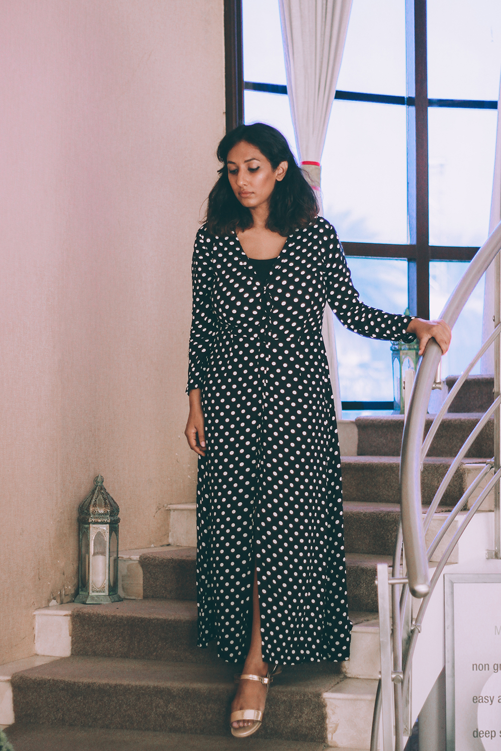 O2 Spa ; Resort wear ; Polka Dots ; Summer ; Maxi ; Lookbook ; indie ; sunset ; Bohemian ; spa outfit ; summer spa ; spa review ; Palm trees ; summer fashion ' Naznin ; Naznin Suhaer ; dusky; model ; indian blogger ; hyderabad fashion bloggers ; hyderabad bloggers ; hyderabad fashion blogger ; I Dress for the Applause