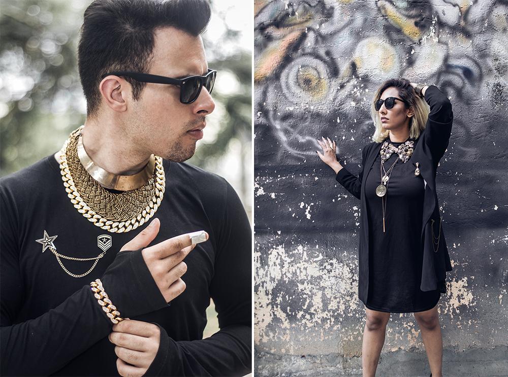 Vintage Fashion ; Pop Art ; Street style ; Graffiti ; Editorial ;Black outfit ; Gold accessories ; Punk Fashion ; Style feature ; asos ; pleather plants ; men's fashion ; Layering jewelry ; fashion photography ; street fashion ; Naznin ; Naznin Suhaer ; dusky; model ; indian blogger ; hyderabad fashion bloggers ; hyderabad bloggers ; hyderabad fashion blogger ; I Dress for the Applause ; Hyderabad ; Start India ;