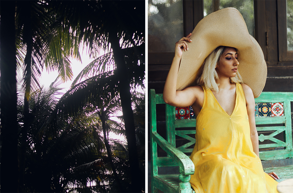 Nicobar Dress , Goa Fashion , Boho ; Yello maxi ; Leela Cottages ; Goa ; Summer Getaway ;Travel ;Ashwem Beach ; Sea view ; By the Ocean ; Cottage Life ; Bohemian look, Bright Colors ; straw hat ; Palm Trees ; Nature Lover ; Slow living ;photography ; Naznin ; Naznin Suhaer ; indian blogger ; hyderabad fashion bloggers ; hyderabad bloggers ; hyderabad fashion blogger ; I Dress for the Applause ;Hyderabad ;