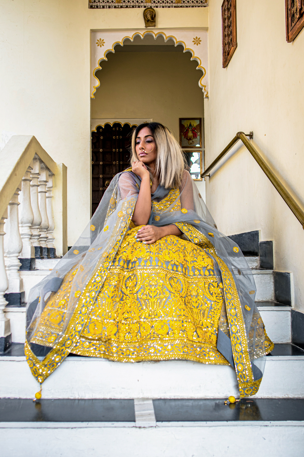 Indian Fashion ; Ethnic Outfit Editorial ; Yellow Lehenga ; Neeru's India ; Neerus's Fashion, Udaipur ; Udaipur Fashion ; City of Lakes ; Travel ; Fashion ; fashion photography ; Naznin ; Naznin Suhaer  ; indian blogger ; hyderabad fashion bloggers ; hyderabad bloggers ; hyderabad fashion blogger ; I Dress for the Applause ; Hyderabad ;