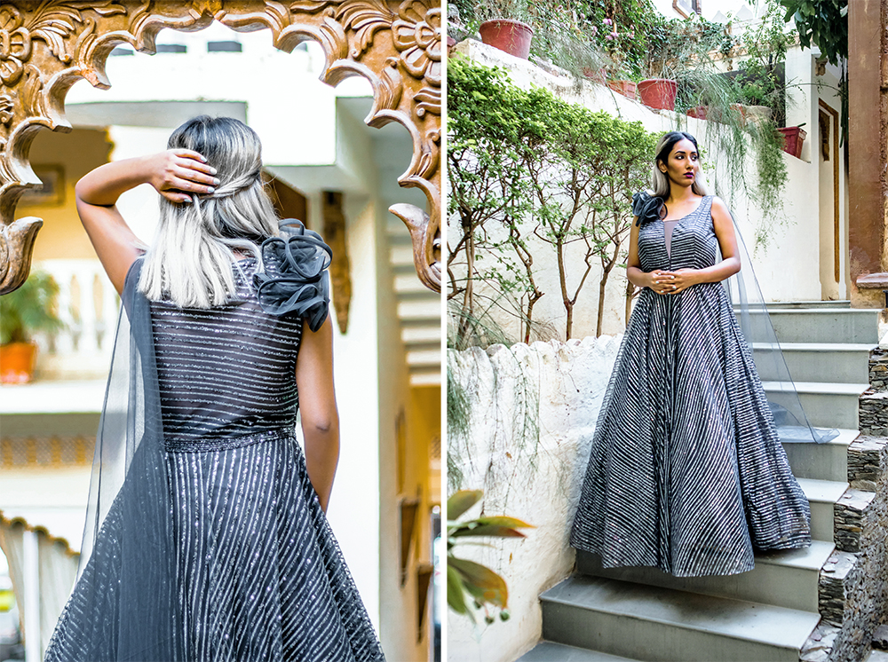 Indian Fashion ; Grey Gown Editorial ; sh Grey ; Regal Gown, Indian Designer, Embellished ; Tulle ; Neeru's India ; Neerus's Fashion, Udaipur ; Udaipur Fashion ; City of Lakes ; Travel ; Fashion ; fashion photography ; Naznin ; Naznin Suhaer  ; indian blogger ; hyderabad fashion bloggers ; hyderabad bloggers ; hyderabad fashion blogger ; I Dress for the Applause ; Hyderabad ;