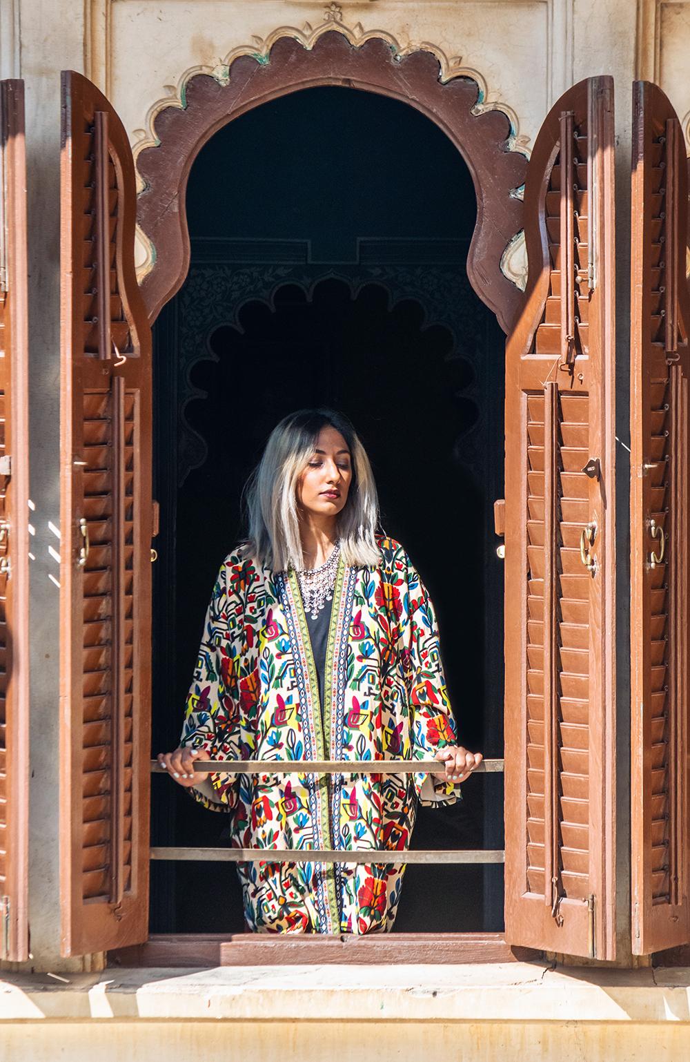 Indian Fashion ; Udaipur ; Udaipur Fashion ; City of Lakes ; Travel ; Fashion ;fashion photography ; Printed Jacket ; Kimono ; Travel Outfit ; Indian Architecture; Naznin ; Naznin Suhaer ; indian blogger ; hyderabad fashion bloggers ; hyderabad bloggers ; hyderabad fashion blogger ; I Dress for the Applause ;Hyderabad ;
